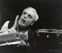 NPG x127343; Patrick Magee as Krapp in 'Krapp's Last Tape' by Ida Kar