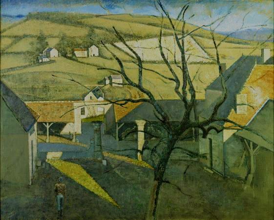 Grand paysage à l'arbre 1960